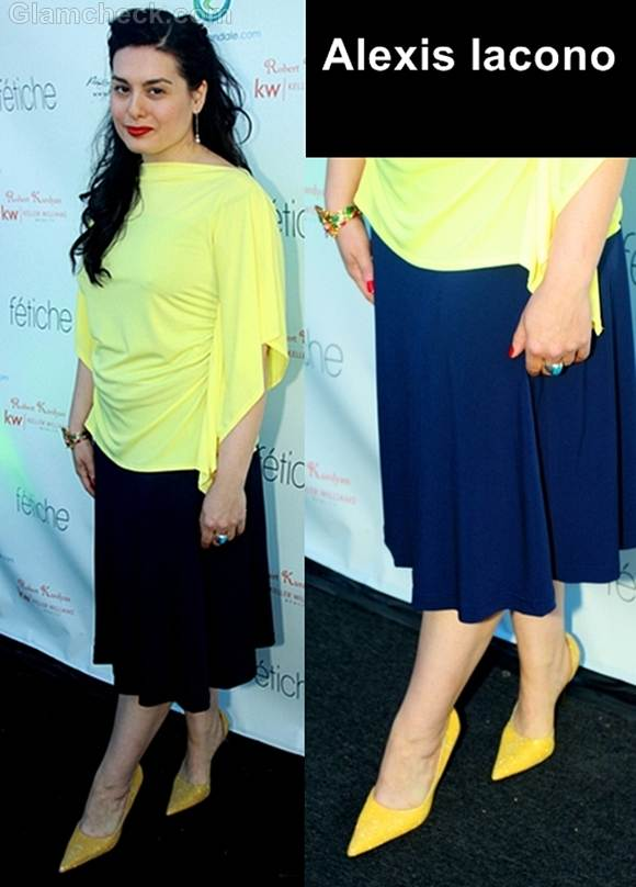Style inspiration how to pair yellow blue Alexis Iacono