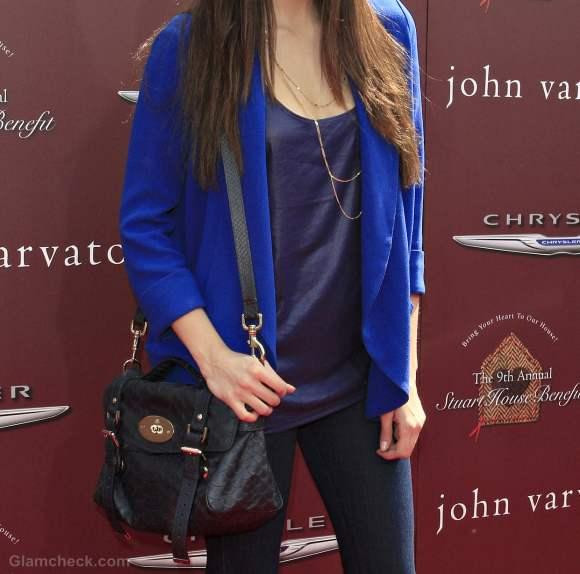 Style inspiration nina dobrev how to wear blue