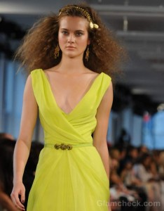 Style Pick of the Day : Oscar De La Renta Fluorescent Maxi Dress