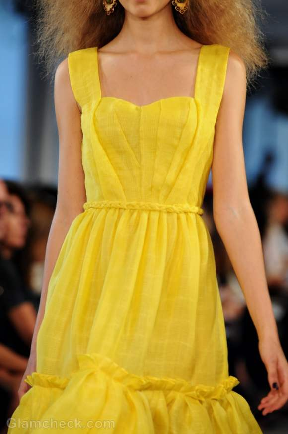 Style pick of the day yellow summer dress by oscar de la renta