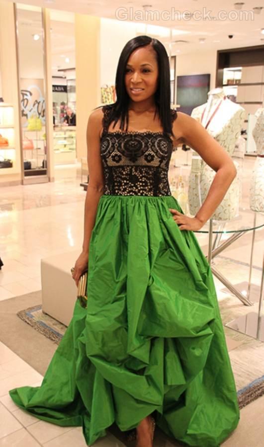 Trend of the week green gown Marlo Hampton