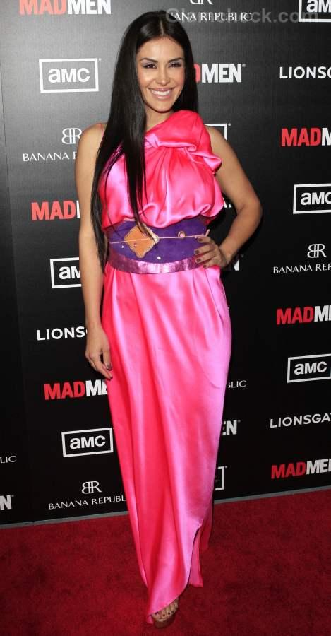 celebrity horrible pink dress
