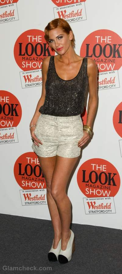 high-waist-shorts-Sarah Harding