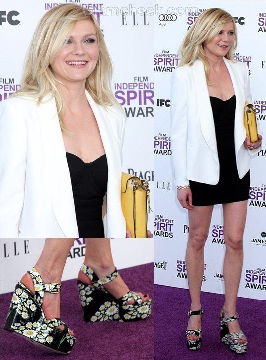 style Inspiration white blazer Kirsten Dunst