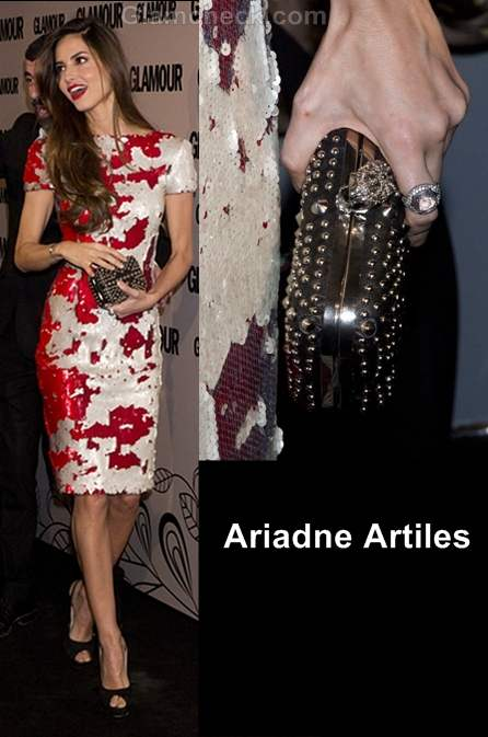 wear black and gold ariadne artiles glamour beauty awards 2012