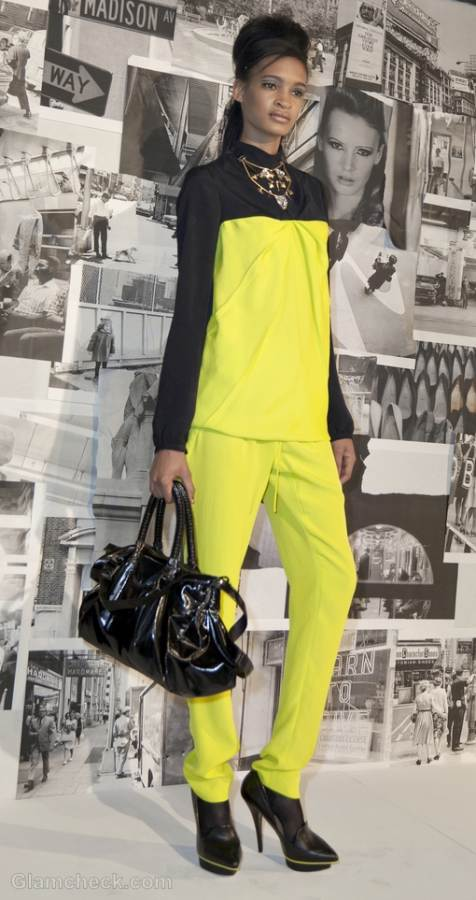 wear neon jumpsuit