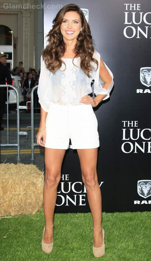 Audrina Patridge White Shorts The Lucky One Premiere
