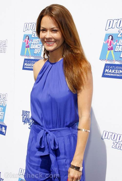 Brooke Burke-Charvet blue rompers