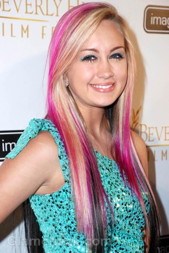 Celeb hair color taylor adams tirple-toned hair