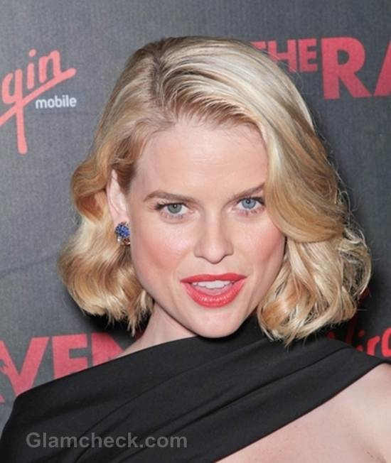 Celeb hairstyle alice eve The Raven Premiere