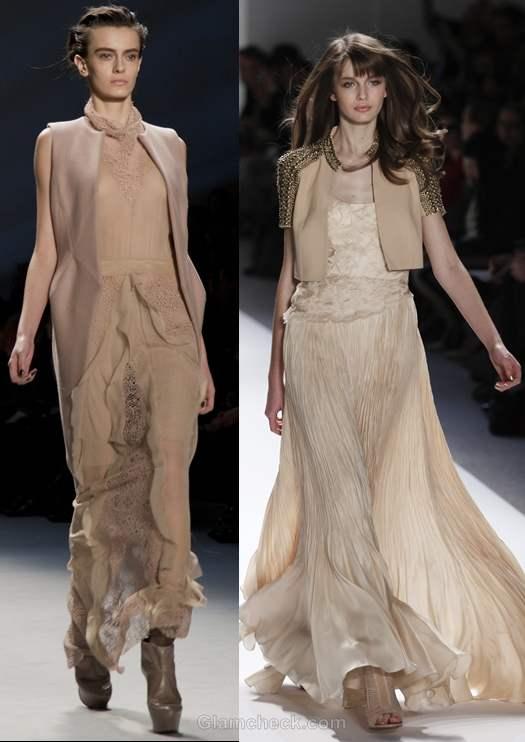 Color trends fall-winter 2012 beige-nude color trend Carlos Miele