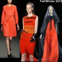 Color trends fall-winter 2012 tangerine tango