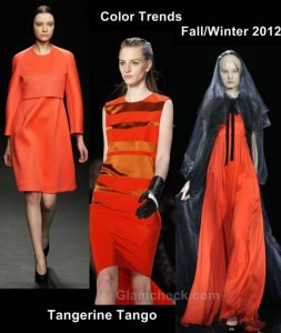 Color trends fall-winter 2012 tangerine tango
