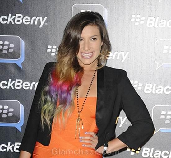 Gabriella Ellis Sports Rainbow Hair Color