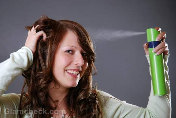 How to use hair spray tips precautions