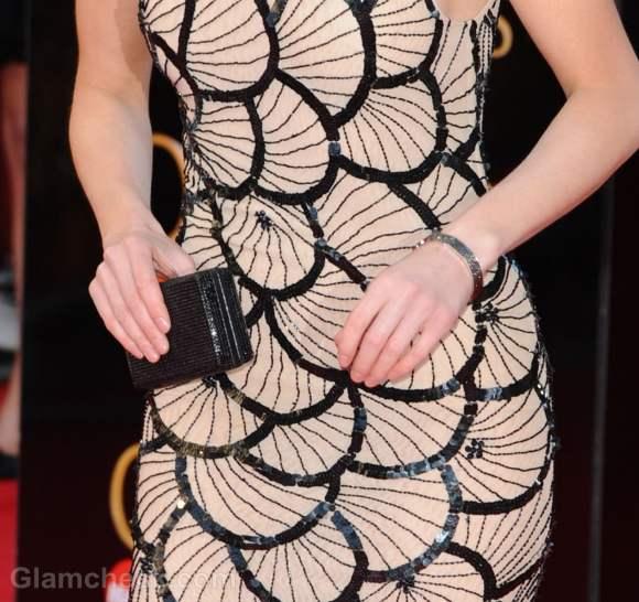 Kara Tointon in Scalloped Dress
