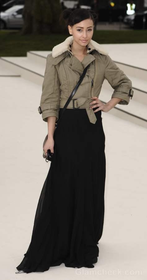 Leah Weller in Skirt Jacket Fall-Winter 2012 London Fashion Week