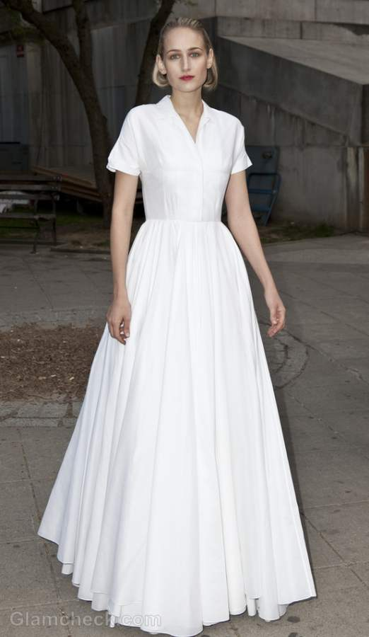 Leelee Sobieski  White gown at 2012 Tribeca Film Festival