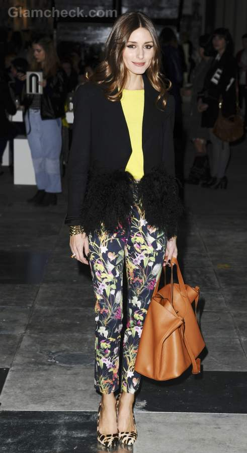 Olivia palermo sports spring burst outfit at fall winter 2012 london