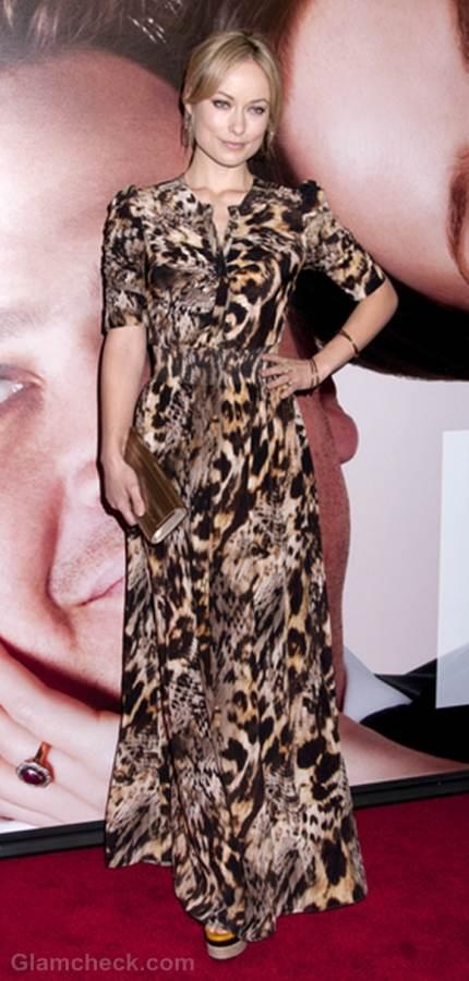 Olivia wilde animal print gown