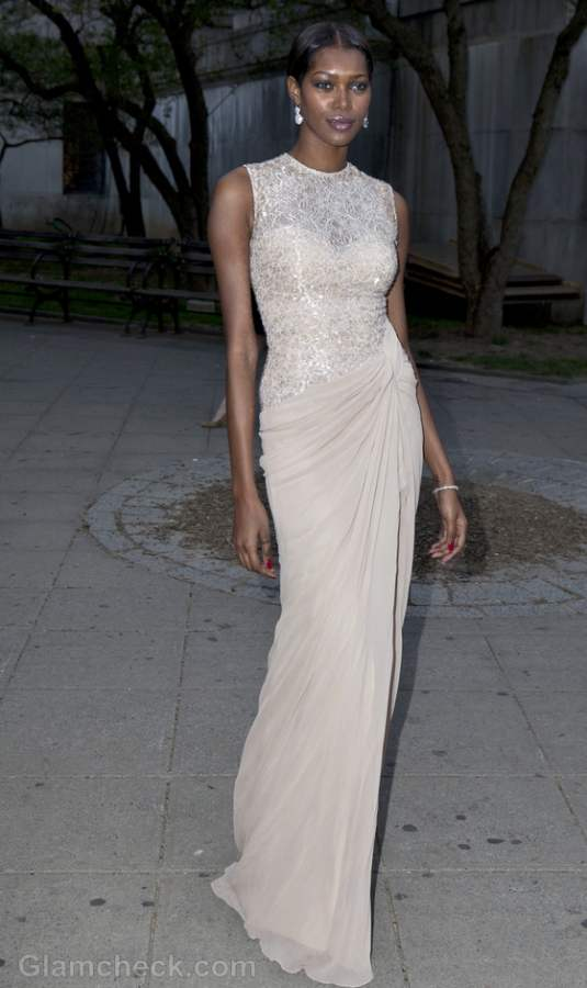 Sequins Lace gown Jessica White