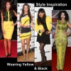 Style inspiration wearing black and yellow