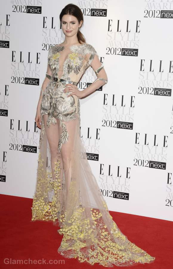 Style inspiration wearing sheer gowns Tali Lennox
