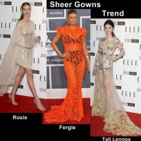 Style inspiration wearing sheer gowns the celeb way