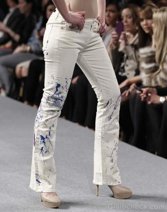 Style pick of the day colour splashed denims