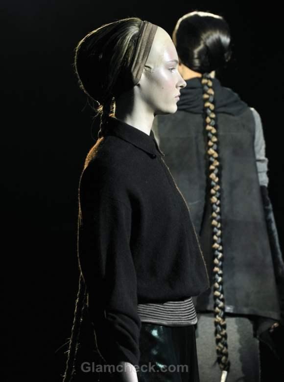 Tegin fall-winter 2012 hairstyle false long braids