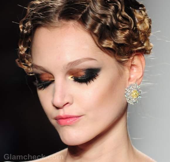 Venexiana f-w 2012- elaborate venice-inspired hairstyles highlighted eyes