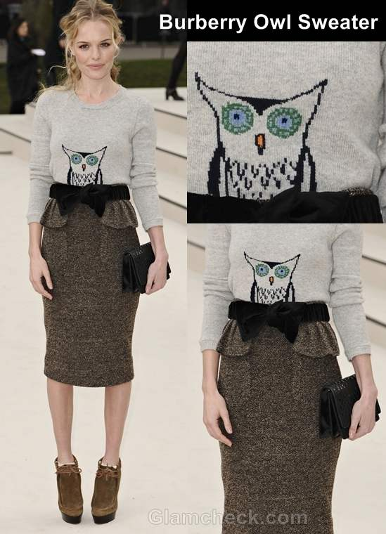burberry owl sweater kate bosworth