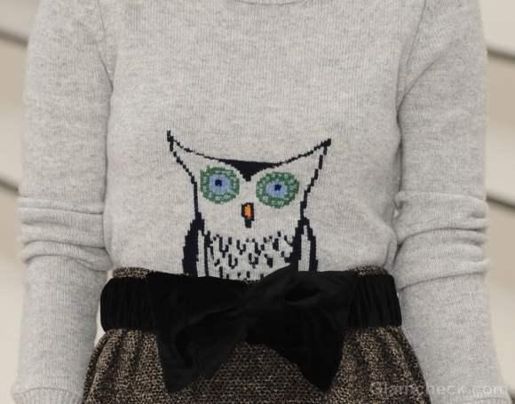 burberry owl sweater