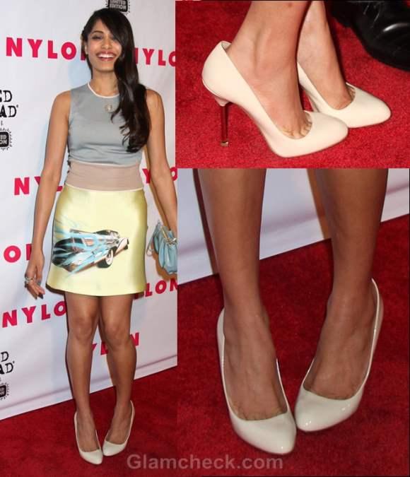 faux-pas-freida pinto-wrong-size shoes
