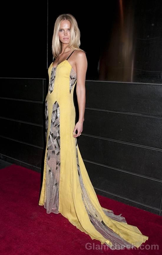 floor-sweeping gown Erin Heatherton