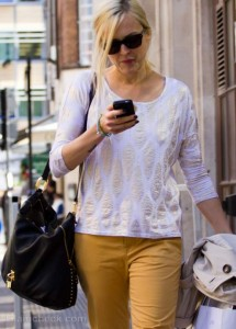 Street Style: Fearne Cotton Cool & Casual in Summer Outfit on Hot London Day