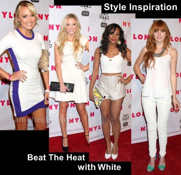 style inspiration-beat the heat with white dresses