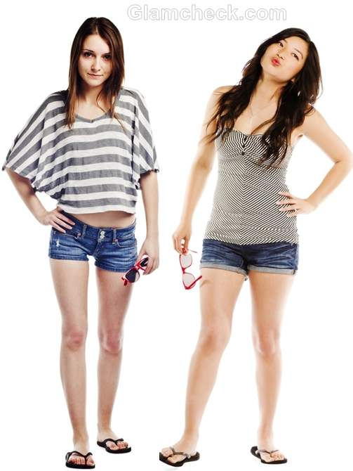 t-shirts to wear with denim shorts-6