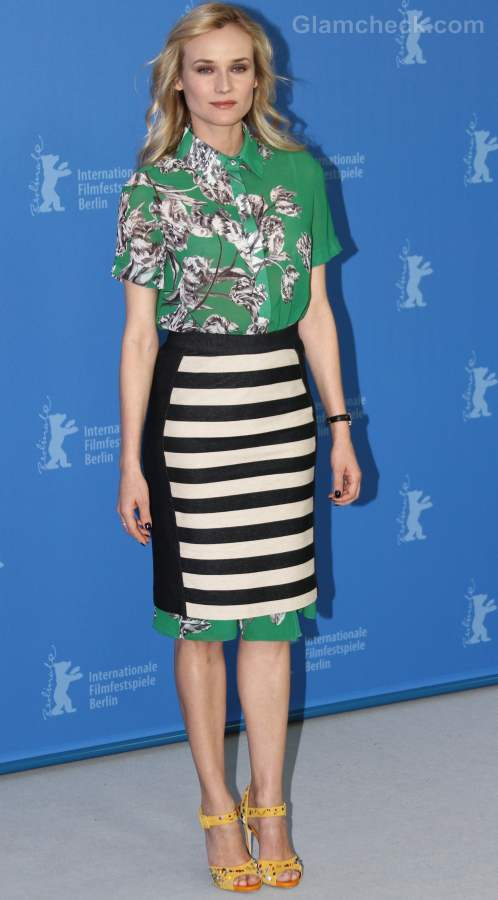 wearing prints with prints Diane Kruger