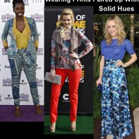 wearing solids with prints style inspiration