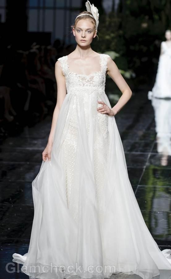 Wedding Dresses For 7 Months Pregnant Bridal Trends Pronovias Catwalk Collection