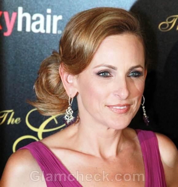 Celeb bun hairstyles annual gracie awards marlee matlin