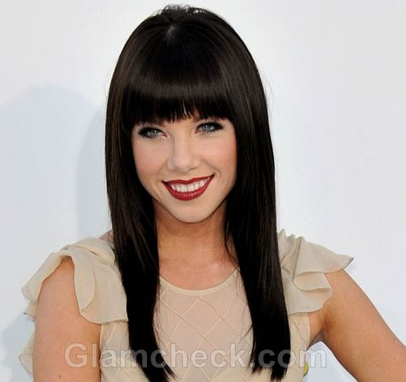 Celebrity bangs hairstyles 2012 billboards awards carly rae jepsen