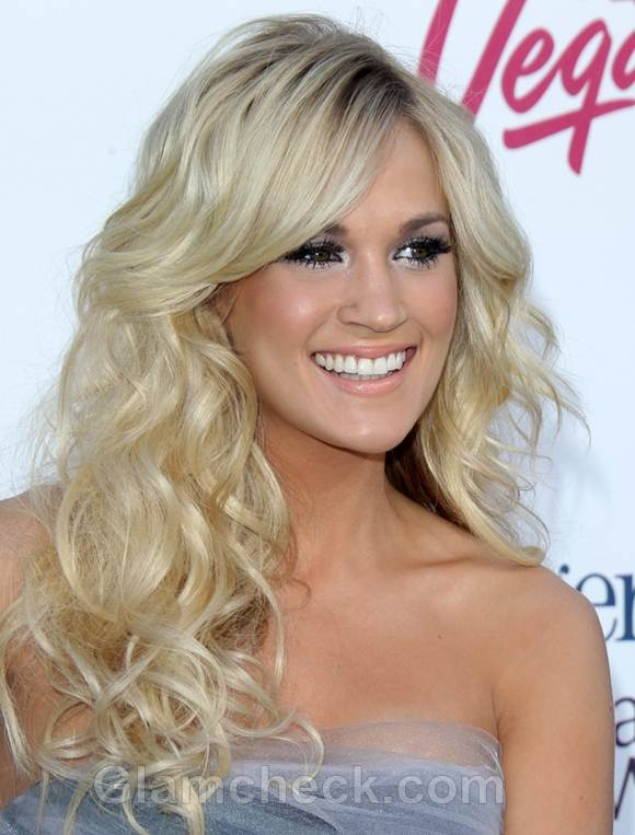 Celebrity Curly Hairstyles Carrie Underwood 2017 Billboard Awards