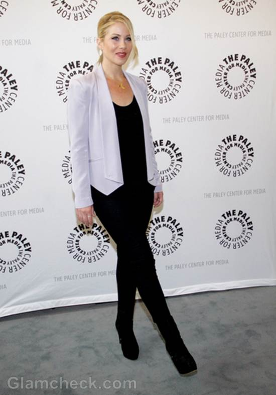 Christina Applegate Stylish In Black Pants