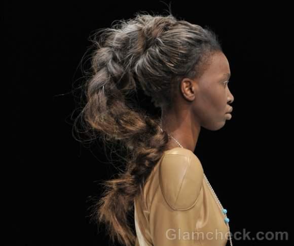 Dima neu fall winter 2012 futuristic messy braid hairdo