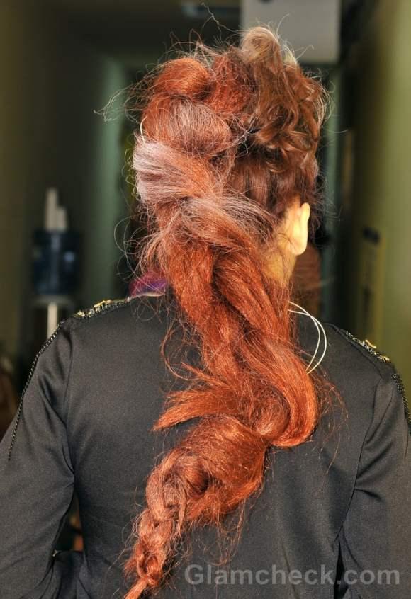 Dima neu fall winter 2012 futuristic messy braid hairstyle