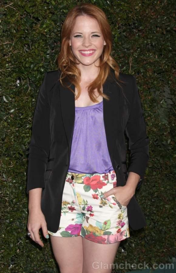 Floral Print Shorts Katie Leclerc