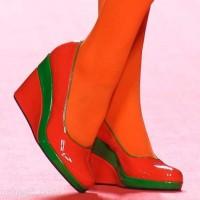 Footwear trends fall-winter 2012 color-block wedges-Agatha Ruiz de la Prada