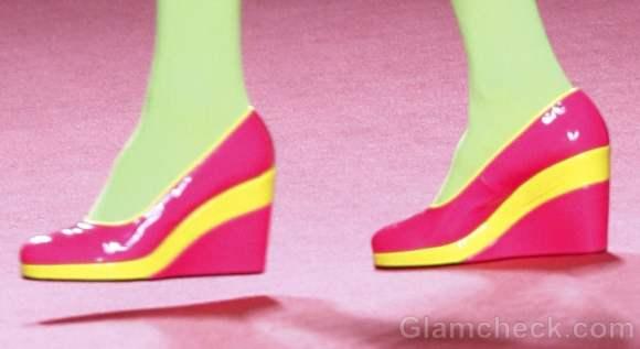 Footwear trends fall-winter 2012 color-blocked wedges-Agatha Ruiz de la Prada